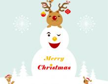 Vector Merry Xmas for you!