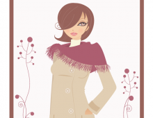 Vintage Fashion Girl