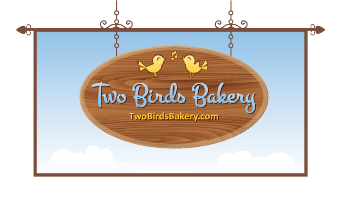 Logo Two Birds Bakery