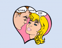 Kiss me in popart