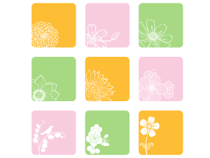 9 Vector Floral Icons