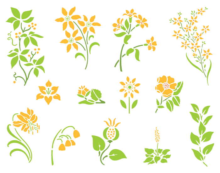 Vector Fresh Spring Flowers