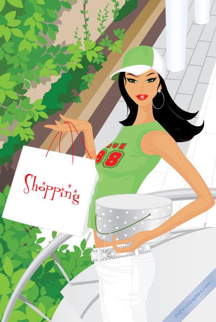 Sportive Shopping Girl
