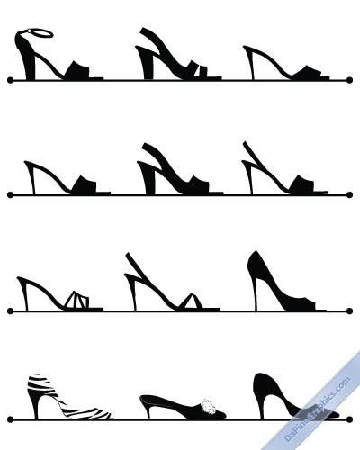 Female Shoes black & white