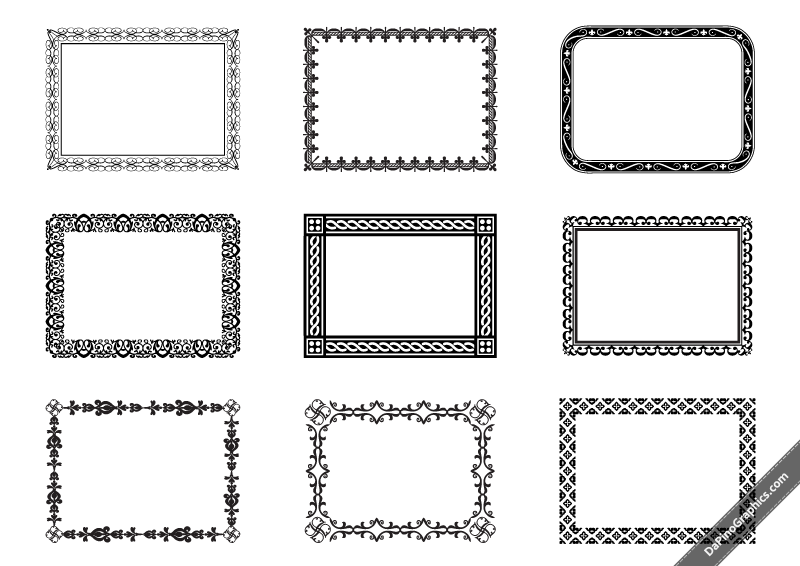 DaPinoGraphics » Ornament Frames