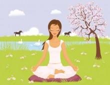 Yoga Girl in landscape