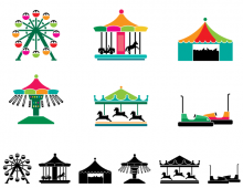 Theme Park Attraction Icons