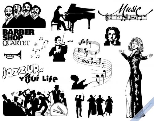 Vintage Music Elements