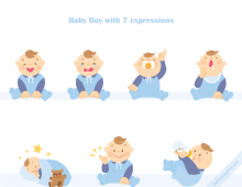 Baby Boy Vector Icons