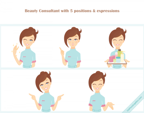 Beauty Consultant Vector Icons