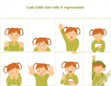 Cute Little Girl Icons