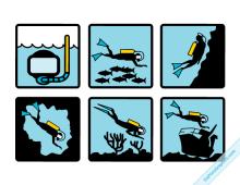 Vector Diving Symbols