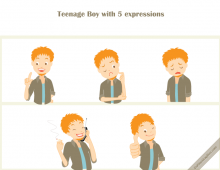 Teenage Boy Vector Icons