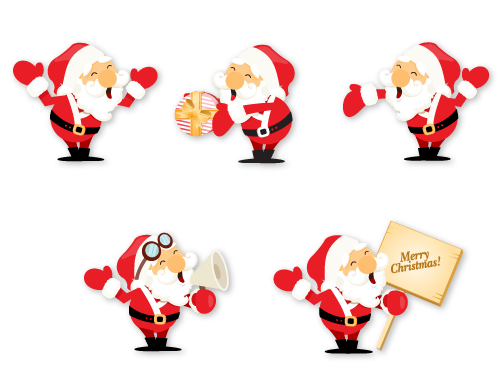 5 Event Xmas Men Icon Set