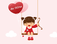 Cute Cupid Girl eCard