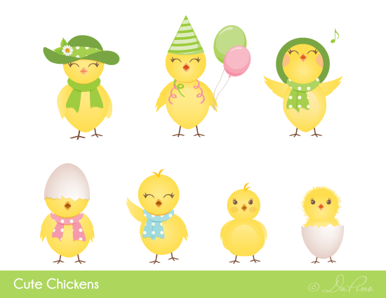 Cute Chickens Icons